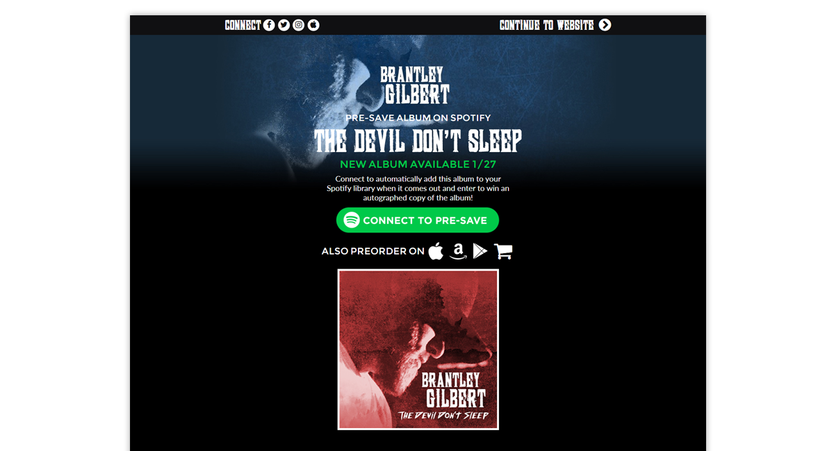 Brentley Gilbert Presave for Spotify