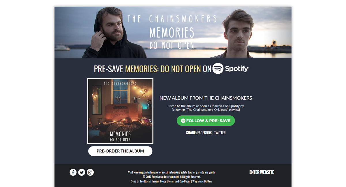 The Chaimsmokers Presave for Spotify