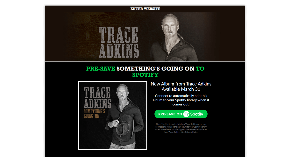 Trace Presave for Spotify